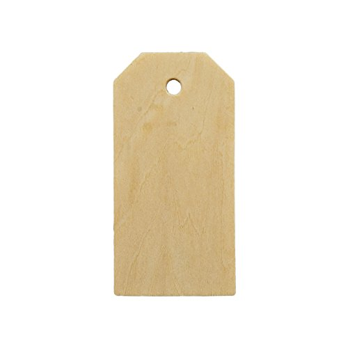 Wooden Gift Tags 3-1/4 inch tall, 1-5/8 inch width, 1/8 inch thick. Bag of 25