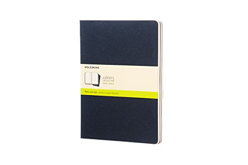 Moleskine Cahier Soft Cover Journal, Set of 3, Plain, XL (7.5