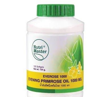 Nutri Master Everose 1000 Evening Primrose Oil 1000mg 100 Softgels from Nutri Master