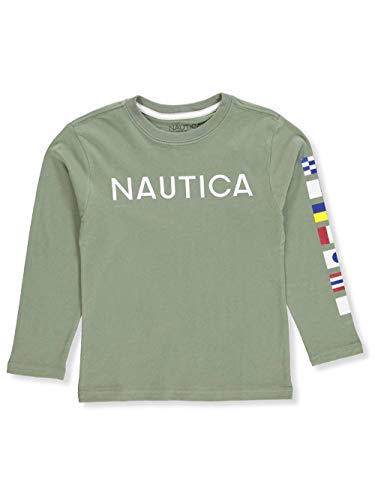 Shirt L/s Nautica (Nautica Big Boys' L/S T-Shirt - sea Spray, 18-20)