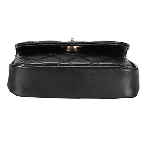 bolso y las multifuncional cintura Rhombus cintura Moda coser la ajustable de correa almacenamiento cerrojo exquisito de de mujeres Bolsa Plaids con de q4tHqxn0