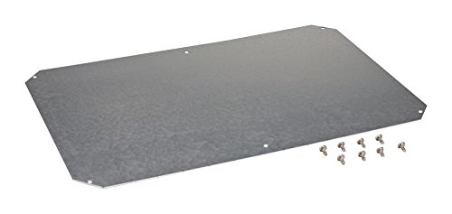 Fibox Enclosures MPS ARCA 6040 Galvanized Steel Mounting Plate for ARCA; ARCA 604021 No-MP/ ARCA 406021 No-MP, 0.08'' Height, 13.8'' Width, 21.7'' Length