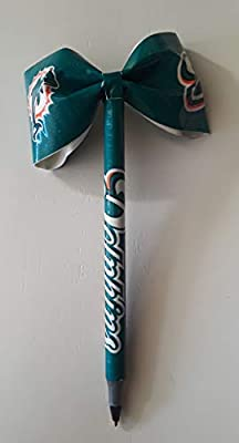 Miami Dolphins NFL Duct Tape Bow Pen