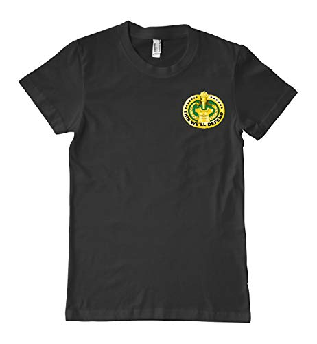 - Luna Distributing US Army Drill Sergeant Badge (Gold) Military T-Shirt 100% Cotton Black