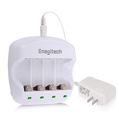 Arlo Battery Charger, Enegitech 3.7V RCR123A Lithium Rechargeable Battery Charger Dual Fast Charger for Arlo Security Camera VMC3030/VMK3200/VMS3330/3430/3530