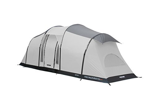 MOOSE OUTDOORS 6 Person Air Inflatable Pop Up Tent for Camping ,Water and Fire Resistant , Qwik frame Inflation System Tent for Camping Gray