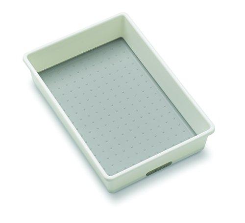madesmart Classic Bin, White, 9 x 6