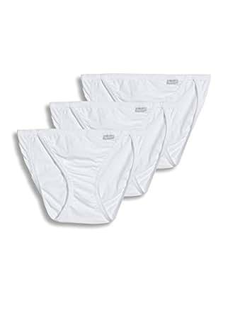 Jockey Women's Underwear Elance String Bikini - 3 Pack, white, 4