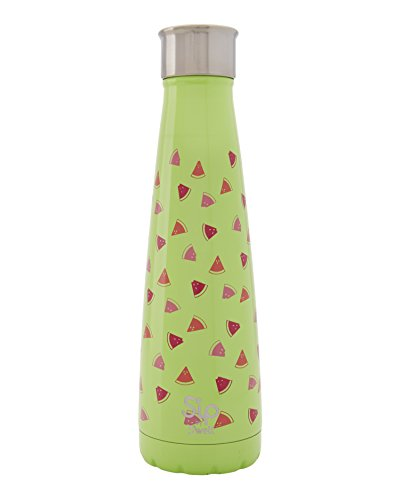 S'ip by S'well Vacuum Insulated Stainless Steel Water Bottle, Double Wall, 15 oz, Watermelon (Watermelon Cup)