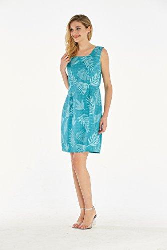 Hawaii Hangover Womens Hawaiian Luau Tank Dress In Aqua Leaf Floral Print at Amazon Womens Clothing store: