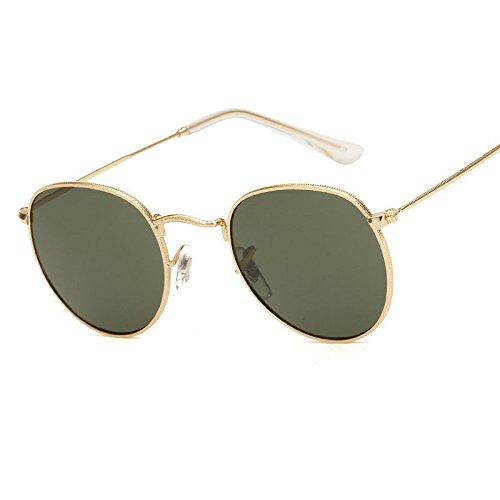 JUJU MALL-Retro Women Men Metal Frame Sunglasses Glasses Vintage Round Outdoor - Outlet Mall Vero Beach