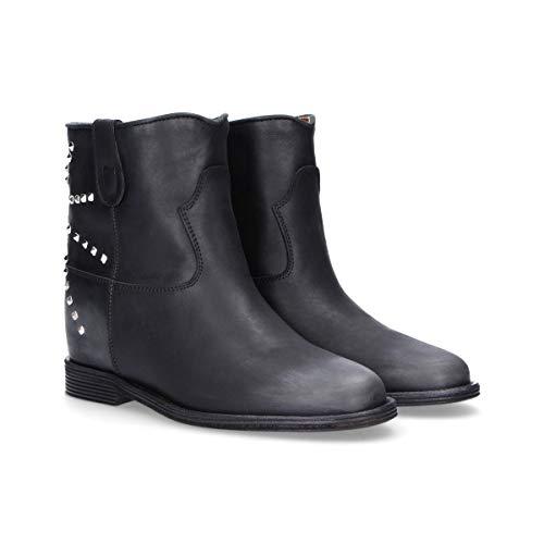 Via noir Roma femmes pour Bottines cuir V3034 15 en wxCESH
