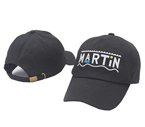 Kokkn Martin Embroidered Baseball Cap Unisex Snapback Hat Cotton Adjustable Dad Hat for Men Women (Black) ()