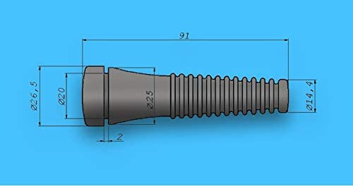 FliGUM 80 St/ück Gummi Rupffinger 9 cm f/ür Gefl/ügel Rupfmaschine Huhn Truthahn Gans Ente Rupfen