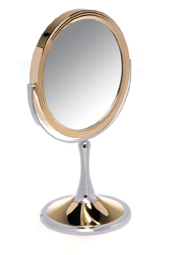 Danielle Gold/ Chrome Spiral Pedestal Mirror 17.5cm