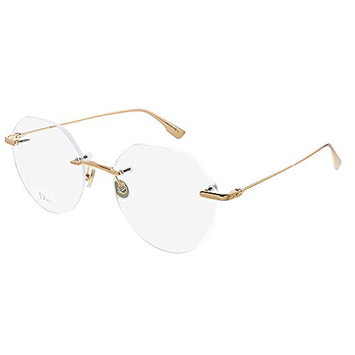 Dior StellaireO 6F DDB Gold Copper Metal Rimless Eyeglasses 53mm