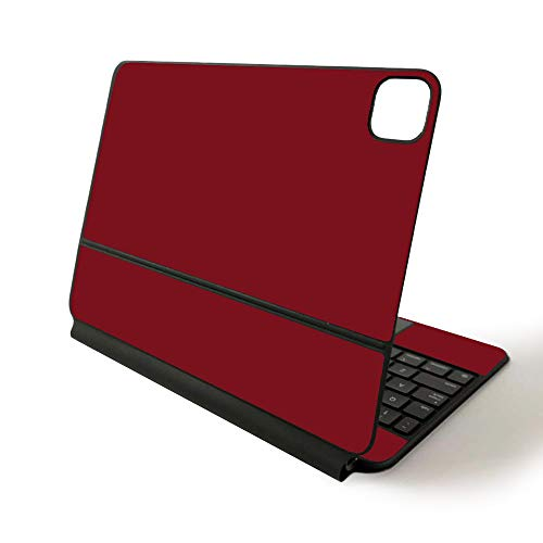 MightySkins Skin for Apple Magic Keyboard for iPad Pro 11-inch (2020) - Sushi | Protective, Durable, and Unique Vinyl Decal wrap Cover, Solid Burgundy