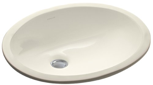 KOHLER K-2209-47 Caxton Undercounter Bathroom Sink, Almond