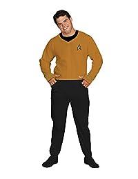 Jumpin Jammerz Star Trek Footed Onesie Adult Pajamas Command Gold