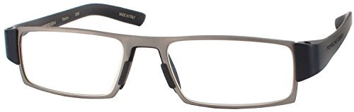 - Porsche 8802 - Transition lens Single Vision Full Frame Designer Reading Glasses, Titanium/Black, +1.50