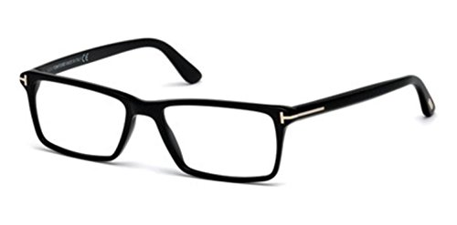 TOM+FORD+Men%27s+TF+5408+001+Black+Clear+Rectangular+Eyeglasses+56mm