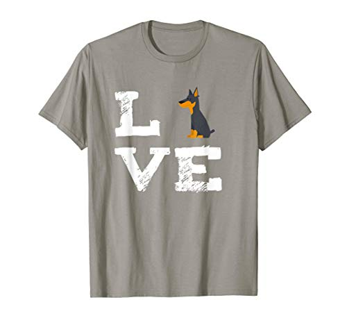 I Love Min Pins Doberman T-Shirt