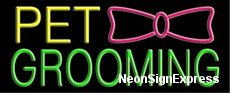 Neon Sign - PET GROOMING