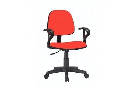 Sedia poltrona da ufficio scrivania con braccioli dattilo rosso