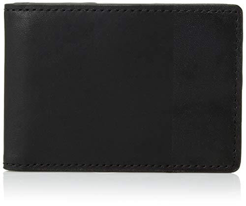"Fossil Men's Nev Front Pocket Bifold Black, 4.25"" L x 0.5"" W x 3"" H from Fossil"