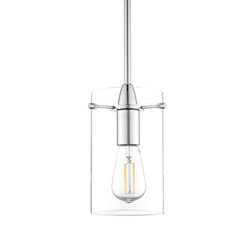Chrome Industrial Pendant Light in US - 9