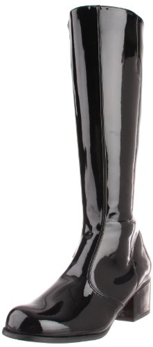[Funtasma Women's Gogo Knee-High Boot,Black Patent,6 M US] (Black Platform Gogo Boots)