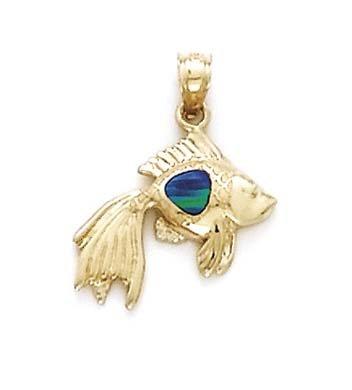 Beta Petit pendentif 14 carats Opale-JewelryWeb