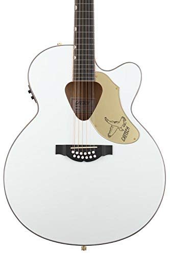 Gretsch Guitars G5022CWFE-12 Rancher Falcon Jumbo 12-String Acoustic-Electric Guitar White
