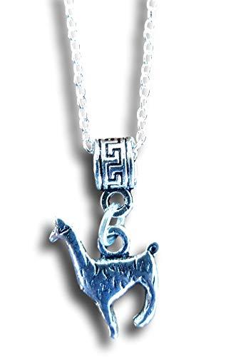 (Pashal Silver Llama Alpaca Pendant Charm Necklace )