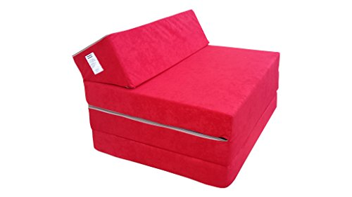 Natalia Spzoo El sillón de colchón Plegable para Invitados con Forma de sillón sofá Cama Plegable con colchón de la Cama