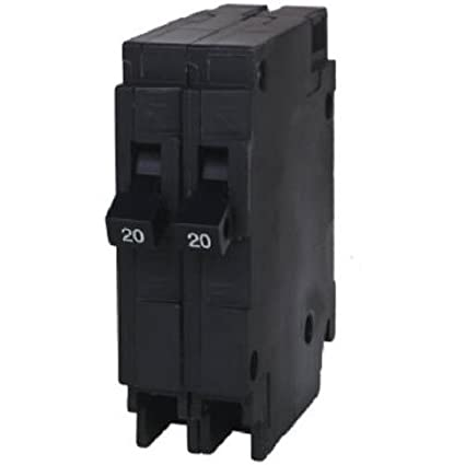 Siemens Q2020 Two 20-Amp Single Pole 120-Volt Circuit Breakers, for ...