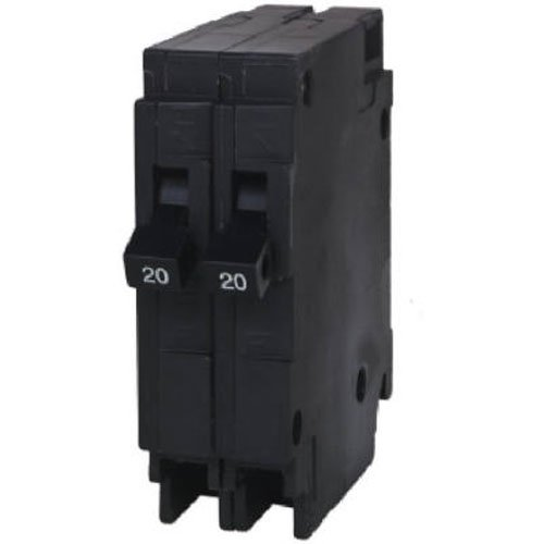 Siemens Q2020 Two 20-Amp Single Pole 120-Volt Circuit Breakers, for use only where Type QT breakers are allowed ()