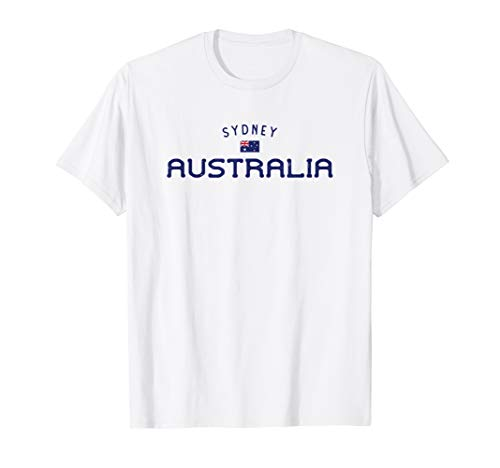 Distressed Sydney Australia With Australian Aussie Flag T-Shirt (Map Of Sydney Australia And Surrounding Area)
