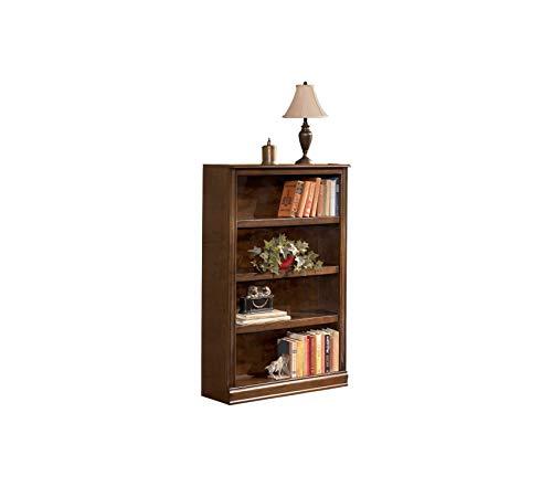 Wood & Style Office Home Furniture Premium Hamlyn Medium Bookcase - 3 Adjustable Shelves - Traditional - Medium Brown Finish