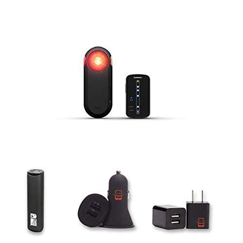 (Garmin Varia RTL510 Cycling Radar Tail Light Bundle + PowerBank + USB Car Charger + USB Wall Charger, EZEE Bundle)