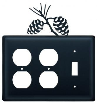 (EOOS-89 Pinecone Double Outlet Single Switch Electric Cover)
