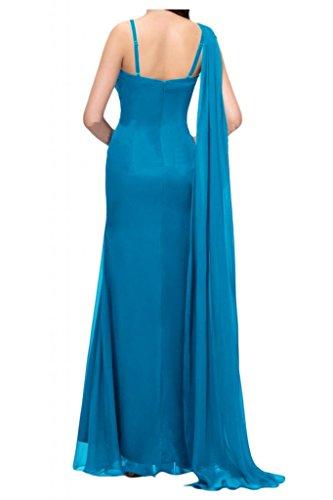 de de novia de Por largo vestidos moda de vestidos la la la Azul cristal bola de de Prom nupcial por fiesta Toscana dos noche noche virgen de la Gasa Traeger TEarZxE