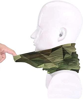 Formas geom/étricas fractales Tri/ángulos Forma inspirada en camuflaje con efecto polivin/ílico Unisex Fleece Neck Warmer Calentador de cara Calentador de cuello Tubo de cuello Bufanda Polainas de cuello