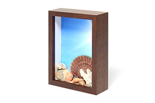 Wooden Swing Frame (Swing Design Chroma Shadow Box Frame, 5 by 7-Inch, Walnut)