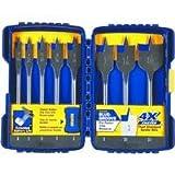 bosch daredevil drill bits - IRWIN Tools SPEEDBOR Blue Groove Pro Spade Bit Set with Case, 8-Piece (341008)