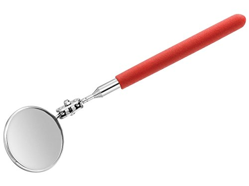 """Chimney Inspection (Oles' Telescoping Inspection Tool. Includes 2"""" Round Adjustable Mirror and Extends up to 24 Inches - Red)"""