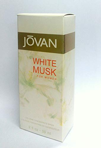 Jovan White Musk for Women, Cologne Spray,  2 fl. oz., Women's Fragrance with Musk & Floral Notes like Jasmine, A Sexually Appealing & Attractive Spray On Scent That Makes a Great Gift.