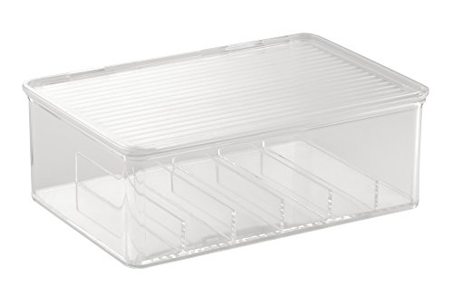 InterDesign Clarity Cosmetic Organizer Box for Vanity Cabine