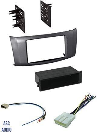 ASC Premium Car Stereo Carbón Gris Instalar Dash Kit, arnés ...