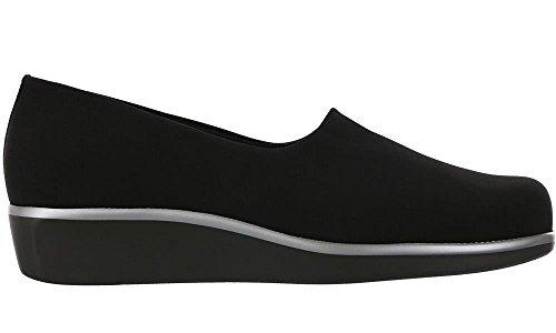 SAS Women's, Bliss Slip on Low Heel Shoes Black 8 W